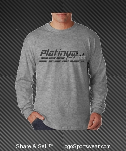 Men's Ash Grey Long Sleeve Design Zoom